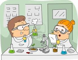 cartoon of two scientists in lab