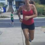 me sprinting