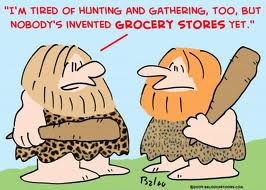 cavemen shopping